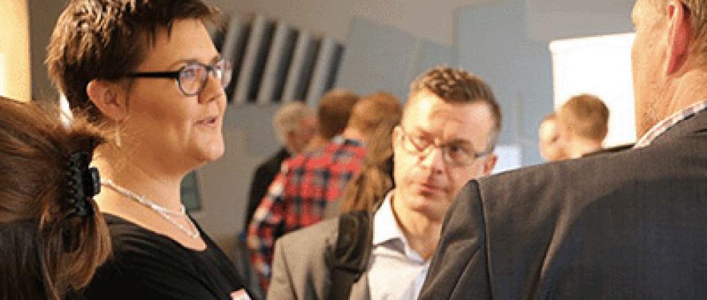 Ida Bodén, grundare av Ivida, var en av föreläsarna under dagen. Hon talade om hur big data kan bli smart data. foto: Mikael Hansson, Infotech Umeå