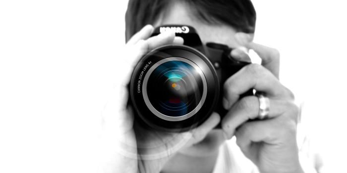 Fotograf med kamera