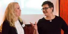 Upload-ambassadörerna Hanna Olsson och Ida Bodén.