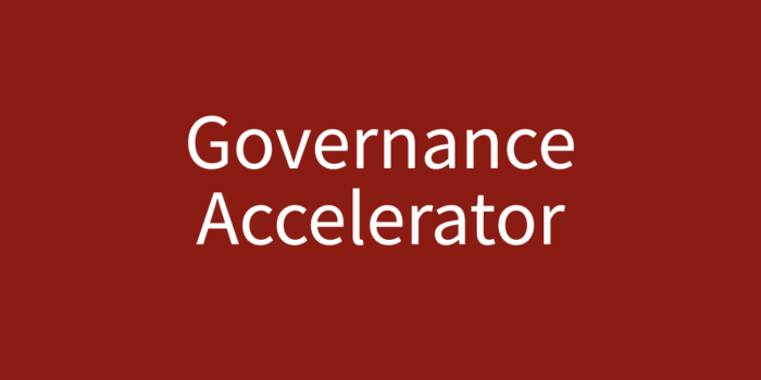 Governance Accelerator