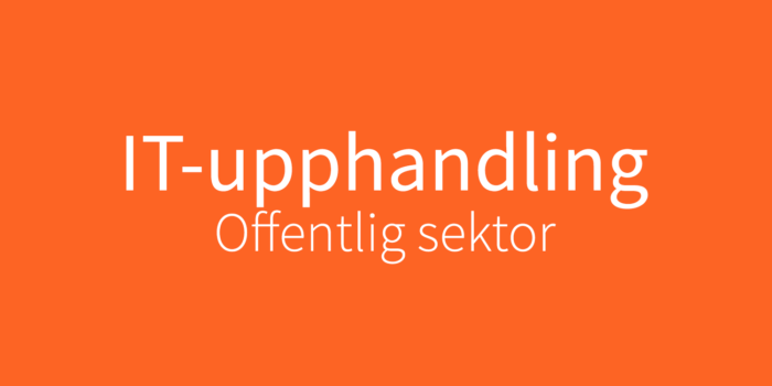 IT-upphandling offentlig sektor