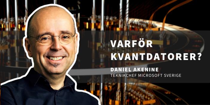 Daniel Akenine framför en kvantdator